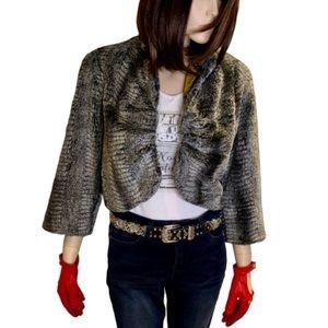Anthropologie Weston Wear Faux Fur Jacket Size S